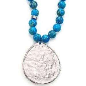 NEST - Turquoise Jasper Pendant Necklace -Like New